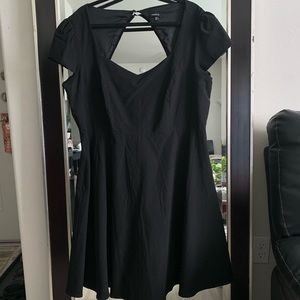 Beautiful black flirty A-line dress, Ultimate LBD